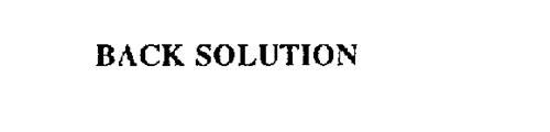 BACK SOLUTION