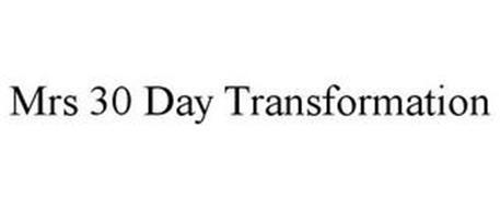 MRS 30 DAY TRANSFORMATION