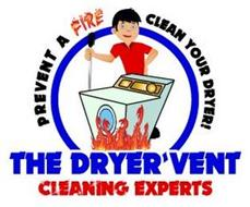 THE DRYER VENT CLEANING EXPERTS PREVENT A FIRE CLEAN YOUR DRYER!