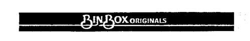 BIN BOX ORIGINALS