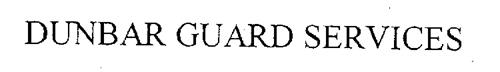 DUNBAR GUARD SERVICES