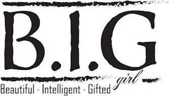 B.I.G GIRL BEAUTIFUL · INTELLIGENT · GIFTED