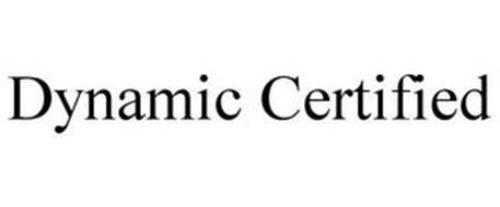 DC DYNAMIC CERTIFIED