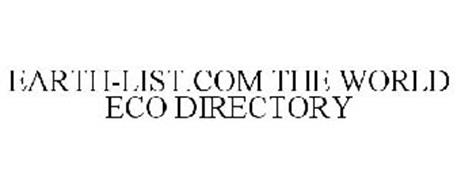 EARTH-LIST.COM THE WORLD ECO DIRECTORY