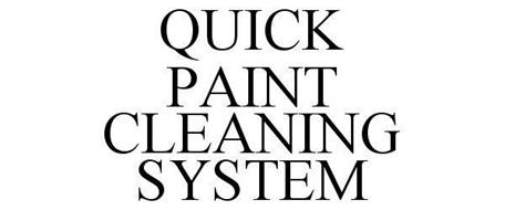 QUICK PAINT CLEANING SYSTEM
