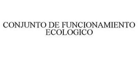 CONJUNTO DE FUNCIONAMIENTO ECOLOGICO