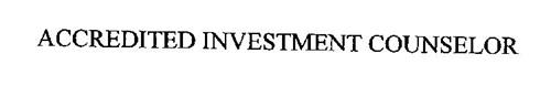 ACCREDITED INVESTMENT COUNSELOR