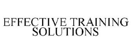 EFFECTIVE TRAINING SOLUTIONS