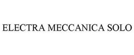ELECTRA MECCANICA SOLO