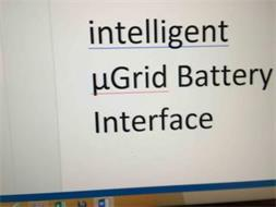 INTELLIGENTµGRID BATTERY INTERFACE
