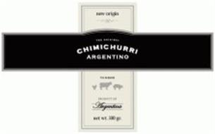 NEW ORIGIN THE ORIGINAL CHIMICHURRI ARGENTINO TO SEASON PRODUCT OF ARGENTINA
