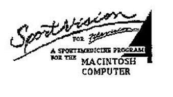 SPORTSVISION FOR FILEVISION A SPORTSMEDICINE PROGRAM FOR THE MACINTOSH COMPUTER