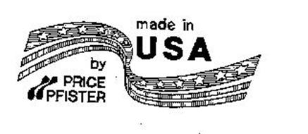 MADE IN USA BY PRICE PFISTER