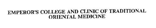 EMPEROR'S COLLEGE AND CLINIC OF TRADITIONAL ORIENTAL MEDICINE