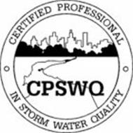 CPSWQ · CERTIFIED PROFESSIONAL · IN STORM WATER QUALITY