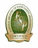 FSP NATIONAL REGISTRY OF FOOD SAFETY PROFESSIONALS CERTIFIED FOOD SAFETY MANAGER