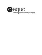 EQUO OPTIMIZED EQUESTRIAN SERVICES AT YOUR FINGERTIPS