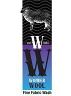 EST. W 1984 W WONDER WOOL FINE FABRIC WASH