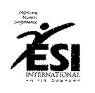 IMPROVING BUSINESS PERFORMANCE ESI INTERNATIONAL AN IIR COMPANY
