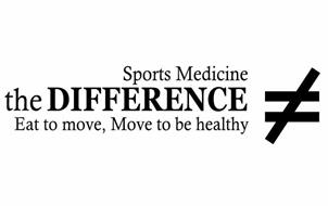 SPORTS MEDICINE THE DIFFERENCE EAT TO MOVE, MOVE TO BE HEALTHY