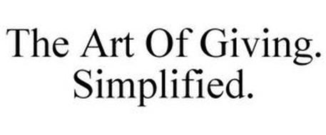 THE ART OF GIVING. SIMPLIFIED.
