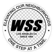 WSS LOS ANGELES CA SINCE 1984 ELEVATINGOUR NEIGHBORHOODS ONE STEP AT A TIME.