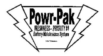 POWR-PAK FRESHNESS PRIORITY #1 BATTERY MAINTENANCE SYSTEM EXIDE TECHNOLOGIES