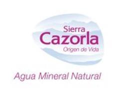 SIERRA CAZORLA ORIGEN DE VIDA AGUA MINERAL NATURAL
