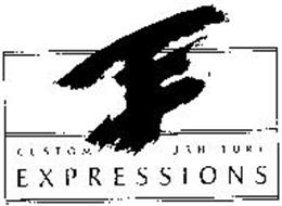 CUSTOM FURNITURE EXPRESSIONS Trademark of Expressions in