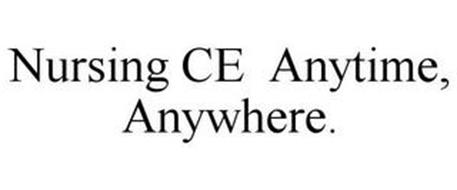 NURSING CE ANYTIME, ANYWHERE.