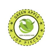 GREEN APPLE TOP PIECES 100% HUMAN HAIR