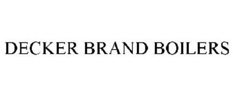 DECKER BRAND BOILERS