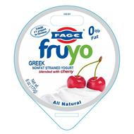 FAGE #1 YOGURT IN GREECE FAGE FRUYO GREEK NONFAT STRAINED YOGURT BLENDED WITH CHERRY ALL NATURAL