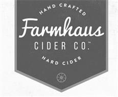 HAND CRAFTED FARMHAUS CIDER CO. HARD CIDER