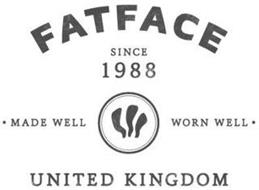 FATFACE SINCE 1988 · MADE WELL WORN WELL · UNITED KINGDOM