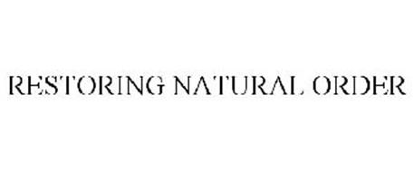 RESTORING NATURAL ORDER