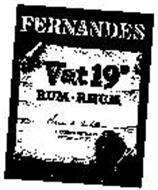 """FERNANDES """"VAT 19"""" RUM-RHUM FERNANDES DI"""