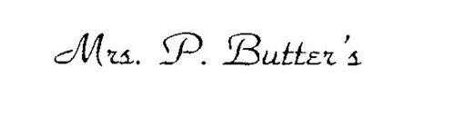 MRS. P. BUTTER'S