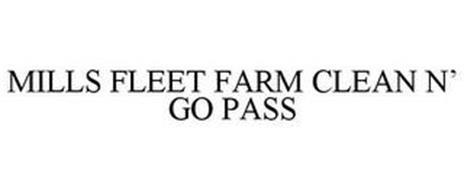 MILLS FLEET FARM CLEAN N' GO PASS