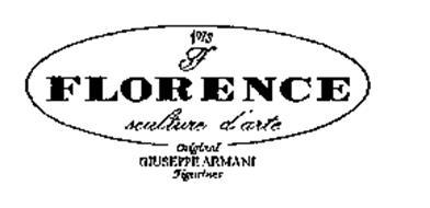 1973 F FLORENCE SCULTURE D'ARTE ORIGINAL GIUSEPPE ARMANI FIGURINES