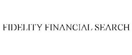 FIDELITY FINANCIAL SEARCH
