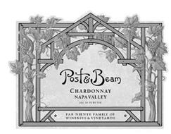 POST & BEAM CHARDONNAY NAPA VALLEY ALC 14.3% BY VOL FAR NIENTE FAMILY OF WINERIES & VINEYARDS
