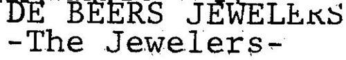 DE BEERS - THE JEWELERS -