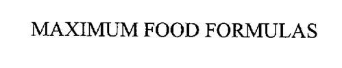 MAXIMUM FOOD FORMULAS