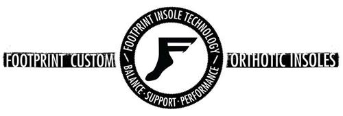 F FOOTPRINT INSOLE TECHNOLOGY BALANCE ·SUPPORT · PERFORMANCE FOOTPRINT CUSTOM ORTHOTIC INSOLES
