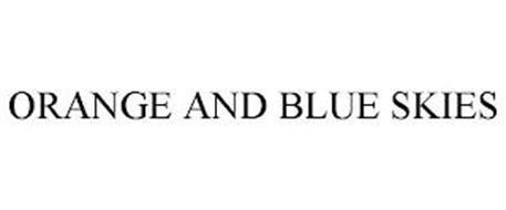 ORANGE AND BLUE SKIES