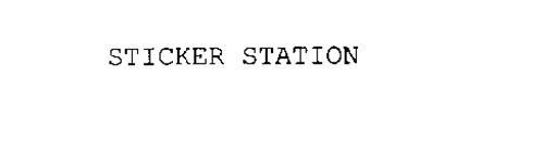 STICKER STATION
