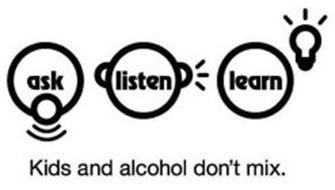 Ask, Listen, Learn: Kids and Alcohol Don't Mix
