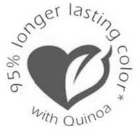 95% LONGER LASTING COLOR* WITH QUINOA