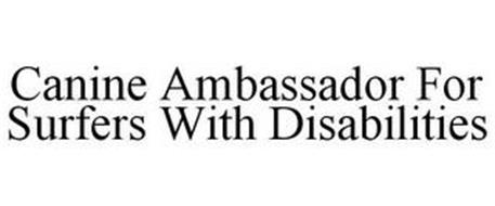 CANINE AMBASSADOR FOR SURFERS WITH DISABILITIES